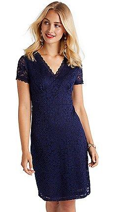 Yumi - Navy lace  Elixis  bodycon dress a04d253e69