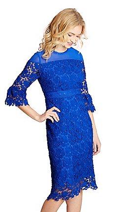 0f23d6ae08b0e Yumi Blue floral lace  guinevere  shift dress