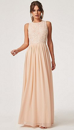 Little Mistress Natural Luxury Anya Hand Embellished Sequin Maxi Dress