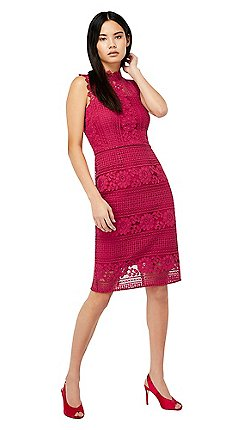 Monsoon Purple Amanda Lace Dress