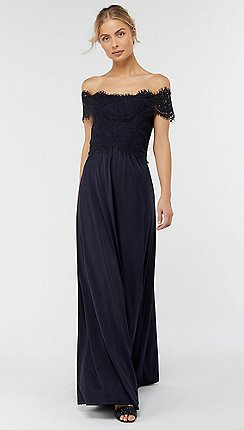 Monsoon Blue Valerie Jersey Maxi Dress