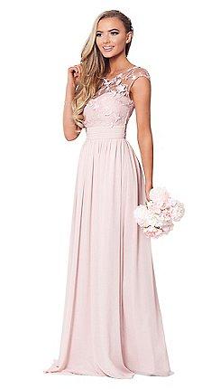 4f8d14e0e79e Sistaglam - Rose pink  Beverley  lace maxi dress