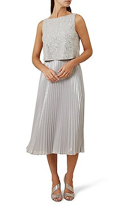 Knee length - silver - Wedding guest - Dresses - Women | Debenhams