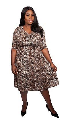 cd855a164ef Scarlett   Jo - Brown viscose midi length plus size jersey dress