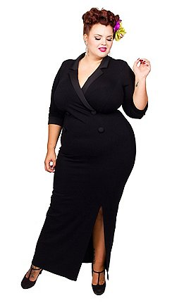 bf6bc621da4 Scarlett   Jo - Black jersey full length plus size maxi dress