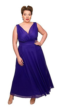 6cf037bccd6 Scarlett   Jo - Dark blue polyester long plus size maxi dress