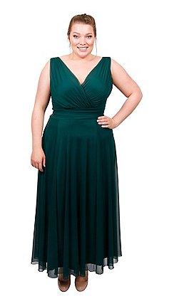 cca9c204130 Scarlett   Jo - Green plus size nancy marilyn chiffon maxi dress