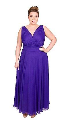 c67ddc65697 Scarlett   Jo - Purple polyester long plus size maxi dress