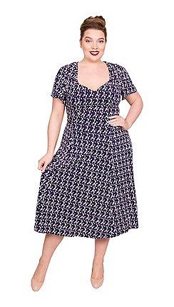 99bee3265db Scarlett   Jo - Blue viscose plus size jersey dress