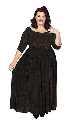 18d855bfee8 Scarlett   Jo - Black lurex full length plus size maxi dress