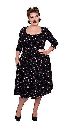 716831b2270 Scarlett   Jo - Multicoloured viscose midi length plus size fit and flare  dress